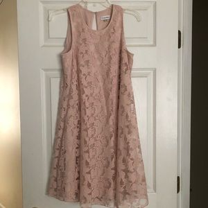 Lace blush Calvin Klein dress (knee length)